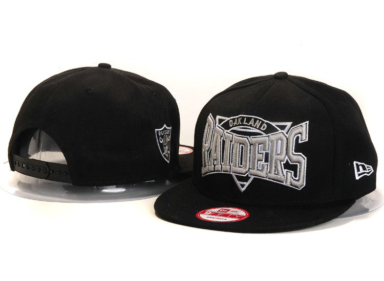 Oakland Raiders Black Snapback Hat YS 1